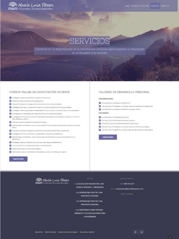 Página web de Servicios MLP con Rankmath
